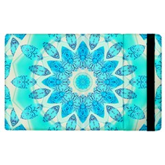 Blue Ice Goddess, Abstract Crystals Of Love Apple Ipad 3/4 Flip Case by DianeClancy