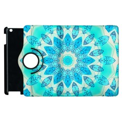 Blue Ice Goddess, Abstract Crystals Of Love Apple Ipad 2 Flip 360 Case