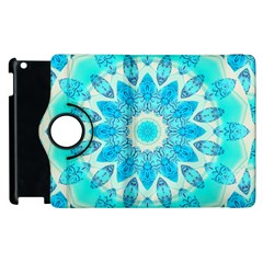 Blue Ice Goddess, Abstract Crystals Of Love Apple Ipad 3/4 Flip 360 Case