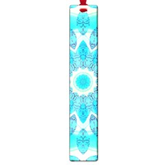 Blue Ice Goddess, Abstract Crystals Of Love Large Bookmark