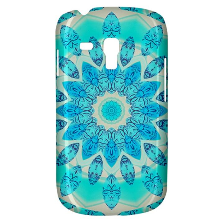 Blue Ice Goddess, Abstract Crystals Of Love Samsung Galaxy S3 MINI I8190 Hardshell Case