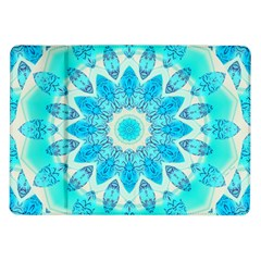 Blue Ice Goddess, Abstract Crystals Of Love Samsung Galaxy Tab 10 1  P7500 Flip Case by DianeClancy