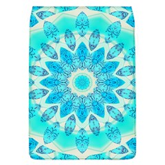 Blue Ice Goddess, Abstract Crystals Of Love Removable Flap Cover (large)