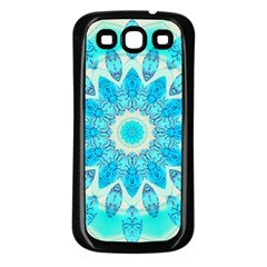 Blue Ice Goddess, Abstract Crystals Of Love Samsung Galaxy S3 Back Case (black) by DianeClancy