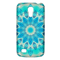 Blue Ice Goddess, Abstract Crystals Of Love Samsung Galaxy S4 Mini (gt I9190) Hardshell Case