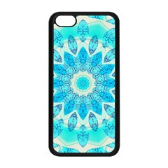 Blue Ice Goddess, Abstract Crystals Of Love Apple Iphone 5c Seamless Case (black) by DianeClancy