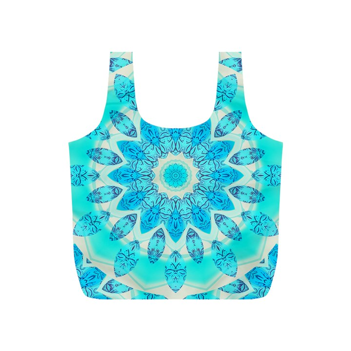 Blue Ice Goddess, Abstract Crystals Of Love Reusable Bag (S)