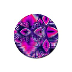 Rose Crystal Palace, Abstract Love Dream  Drink Coaster (round) by DianeClancy