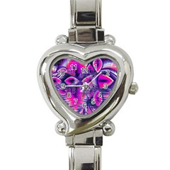 Rose Crystal Palace, Abstract Love Dream  Heart Italian Charm Watch  by DianeClancy