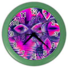 Rose Crystal Palace, Abstract Love Dream  Wall Clock (color) by DianeClancy