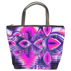 Rose Crystal Palace, Abstract Love Dream  Bucket Handbag by DianeClancy