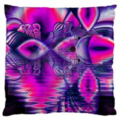 Rose Crystal Palace, Abstract Love Dream  Large Cushion Case (single Sided)  by DianeClancy
