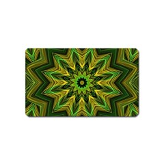 Woven Jungle Leaves Mandala Magnet (name Card)