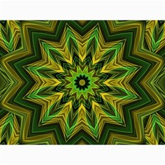 Woven Jungle Leaves Mandala Canvas 18  X 24  (unframed) by Zandiepants