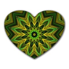 Woven Jungle Leaves Mandala Mouse Pad (heart) by Zandiepants