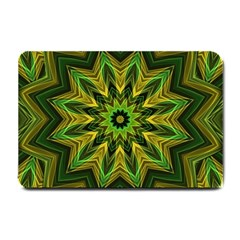 Woven Jungle Leaves Mandala Small Door Mat by Zandiepants