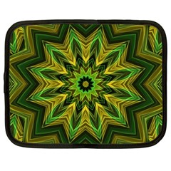 Woven Jungle Leaves Mandala Netbook Sleeve (xxl) by Zandiepants