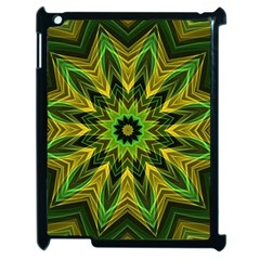 Woven Jungle Leaves Mandala Apple Ipad 2 Case (black) by Zandiepants