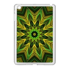 Woven Jungle Leaves Mandala Apple Ipad Mini Case (white) by Zandiepants