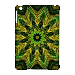 Woven Jungle Leaves Mandala Apple Ipad Mini Hardshell Case (compatible With Smart Cover) by Zandiepants