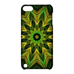 Woven Jungle Leaves Mandala Apple Ipod Touch 5 Hardshell Case With Stand by Zandiepants