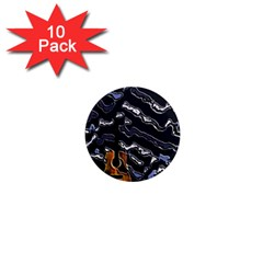 Sound Waves 1  Mini Button Magnet (10 Pack)