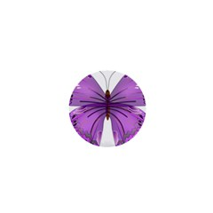 Purple Awareness Butterfly 1  Mini Button by FunWithFibro