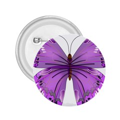 Purple Awareness Butterfly 2 25  Button by FunWithFibro