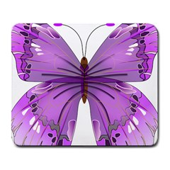 Purple Awareness Butterfly Large Mouse Pad (rectangle) by FunWithFibro