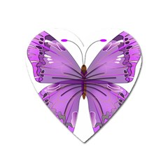 Purple Awareness Butterfly Magnet (heart) by FunWithFibro