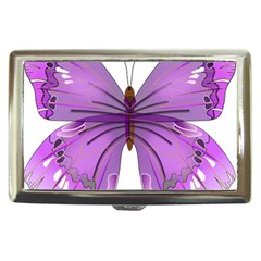 Purple Awareness Butterfly Cigarette Money Case by FunWithFibro