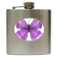 Purple Awareness Butterfly Hip Flask by FunWithFibro