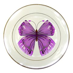 Purple Awareness Butterfly Porcelain Display Plate by FunWithFibro