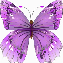 Purple Awareness Butterfly Canvas 12  X 12  (unframed) by FunWithFibro