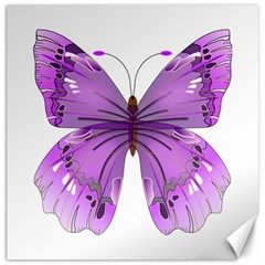 Purple Awareness Butterfly Canvas 16  X 16  (unframed) by FunWithFibro