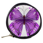 Purple Awareness Butterfly Mini Makeup Case Back