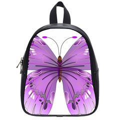 Purple Awareness Butterfly School Bag (small) by FunWithFibro