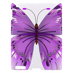 Purple Awareness Butterfly Apple Ipad 3/4 Hardshell Case by FunWithFibro