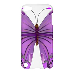 Purple Awareness Butterfly Apple Ipod Touch 5 Hardshell Case by FunWithFibro