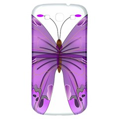 Purple Awareness Butterfly Samsung Galaxy S3 S Iii Classic Hardshell Back Case by FunWithFibro