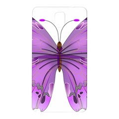 Purple Awareness Butterfly Samsung Galaxy Note 3 N9005 Hardshell Back Case by FunWithFibro