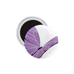 Purple Awareness Butterfly 2 1 75  Button Magnet by FunWithFibro