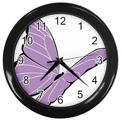 Purple Awareness Butterfly 2 Wall Clock (black) by FunWithFibro
