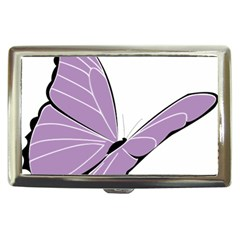 Purple Awareness Butterfly 2 Cigarette Money Case by FunWithFibro