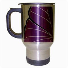 Purple Awareness Butterfly 2 Travel Mug (silver Gray) by FunWithFibro