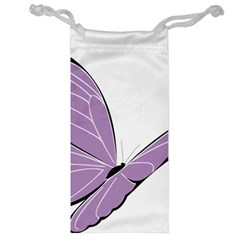 Purple Awareness Butterfly 2 Jewelry Bag by FunWithFibro