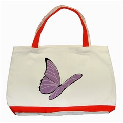 Purple Awareness Butterfly 2 Classic Tote Bag (red) by FunWithFibro