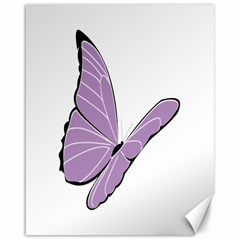 Purple Awareness Butterfly 2 Canvas 16  X 20  (unframed) by FunWithFibro