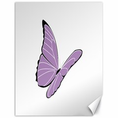 Purple Awareness Butterfly 2 Canvas 18  X 24  (unframed) by FunWithFibro