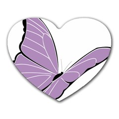Purple Awareness Butterfly 2 Mouse Pad (heart) by FunWithFibro